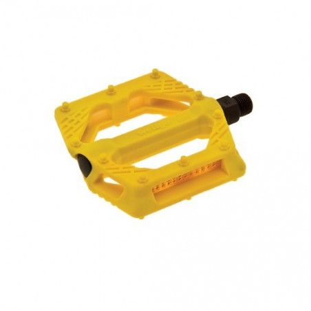 Couple of pedals Fixed / Bmx plastic pin with large 9/16? Yellow,