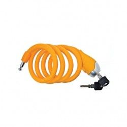 Coil lock Designed to in Silicone 120 cm x 12 mm orange opaque