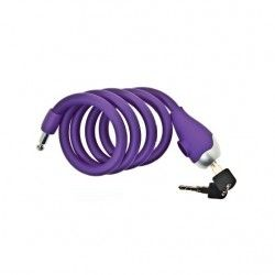 Coil lock Silicone 120 cm x 12 mm lilac opaque