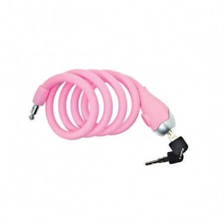 Coil lock Silicone 120 cm x 12 mm pink opaque