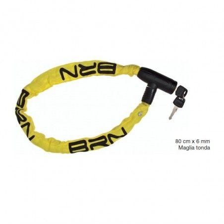Padlock Chain Blindo 80 cm x 6 mm round mesh fabric yellow