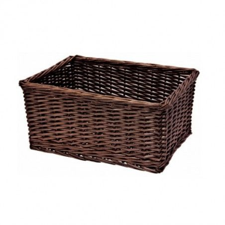 Wicker basket brown rectangular