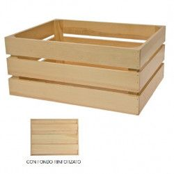 Natural Wooden Basket Paris Reinforced