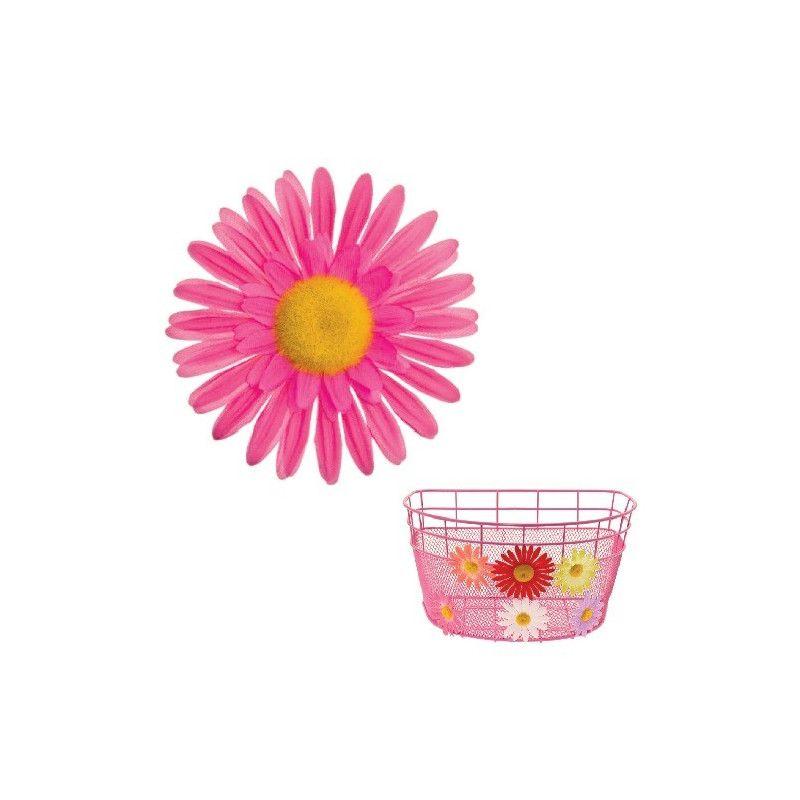 FI60P Fiore Margherita Grande rosa per ornare cesto bici accessori colorati fiori plastica decorazioni