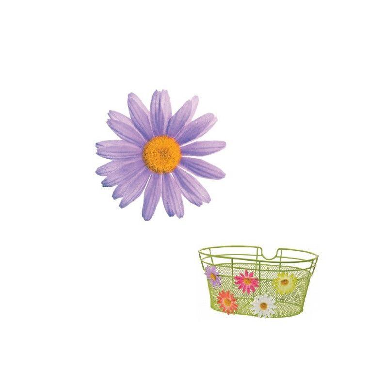 FI50L Fiore Margherita piccola lilla per ornare cesto bici accessori colorati fiori plastica decorazioni