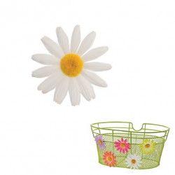 FI50B Fiore Margherita piccola bianco per ornare cesto bici accessori colorati fiori plastica decorazioni