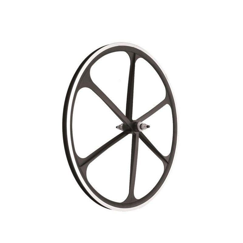 Couple Fixed 28 alloy wheels, 30mm profile 6 fathoms, black color RMS - 1