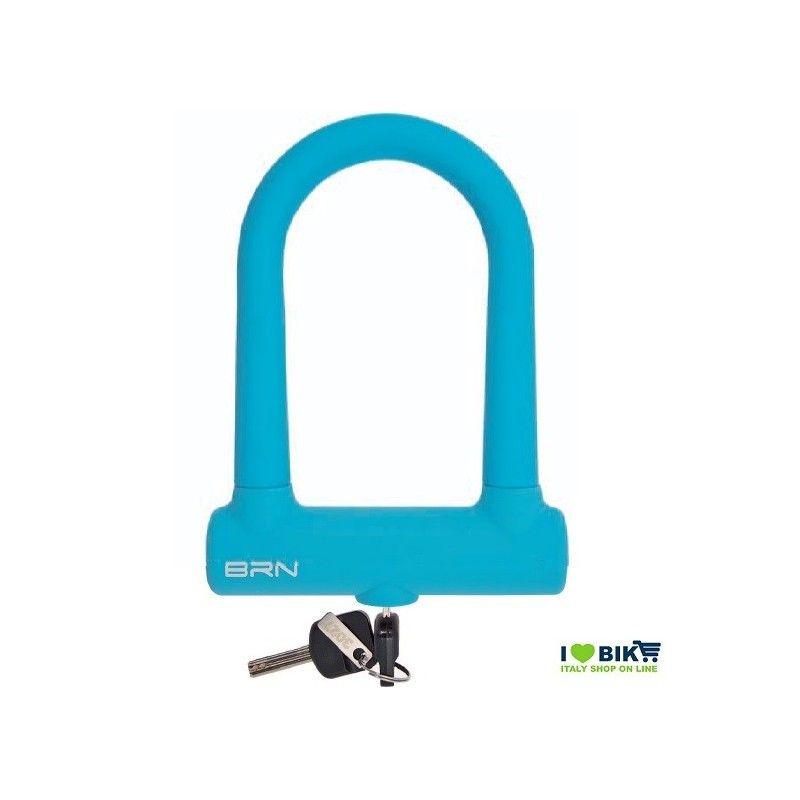 LU15A Lucchetto colorato turchese PER BICI ad arco Fixed Lock in silicone accessori ricambi vendita bici