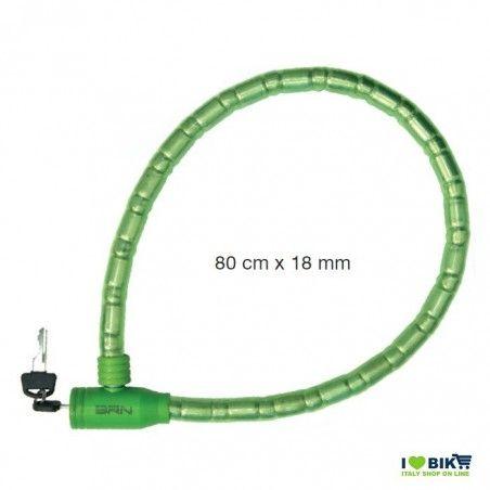 Padlock for bike python blindo green