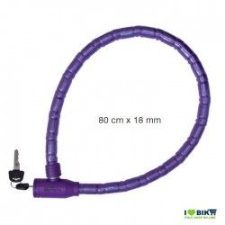 Padlock for bike python blindo violet