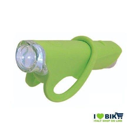 FA30V Fanale verde silicone colorato anteriore per bici super led bianco accessori bici vendita on line