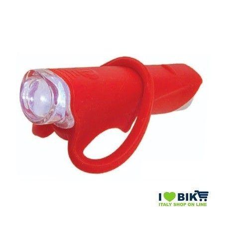 FA30R Fanale rosso silicone colorato anteriore per bici super led bianco accessori bici vendita on line