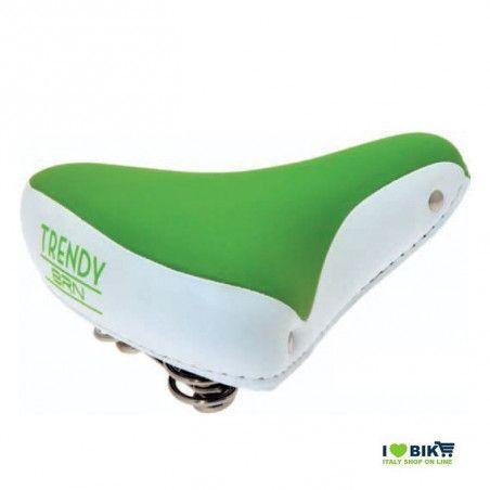 SE08V Sella verde per bicicletta colorata per bici graziella retro accessori bici e ricambi su ilovebike