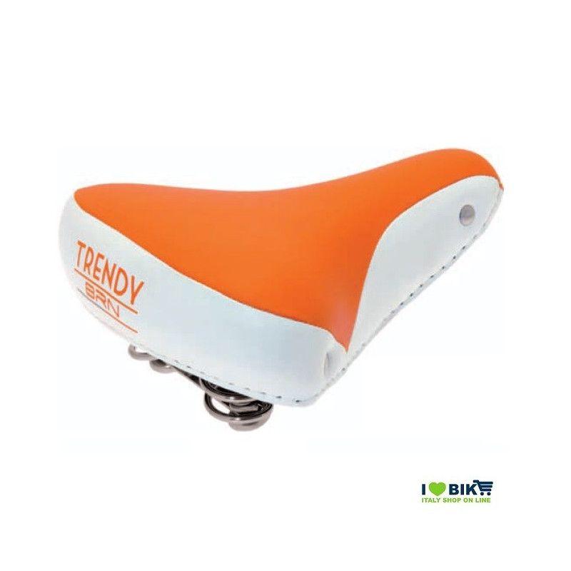 SE08A Sella arancione per bicicletta colorata per bici graziella retro accessori bici e ricambi su ilovebike