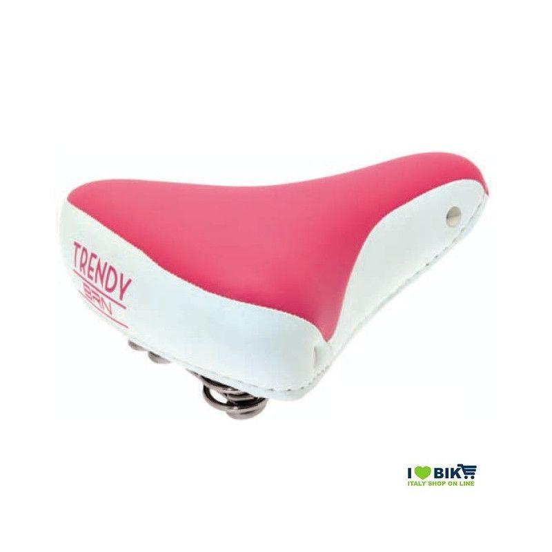 SE08P Sella rosa per bicicletta colorata per bici graziella retro accessori bici e ricambi su ilovebike