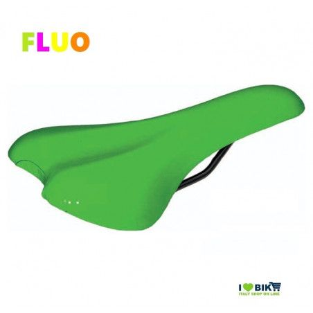 SE12FV Sella verde fluorescente per bici Fixed Mtb fluo scatto fisso single speed accessori e ricambi on line