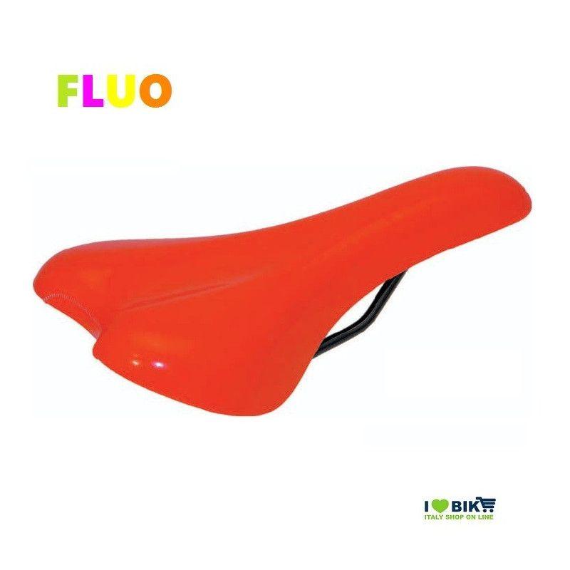 SE12FA Sella arancione fluorescente per bici Fixed Mtb fluo scatto fisso single speed accessori e ricambi on line