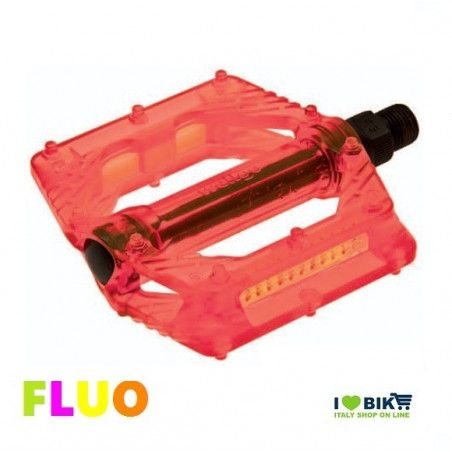 "Couple of Pedals Fixed / Bmx plastic pin with large 9/16 "" FLUO orange"