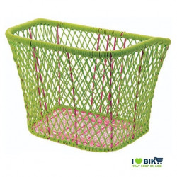 CE77V Cesto verde per bici a rete colorato accessori e ricambi bici negozio bici on line