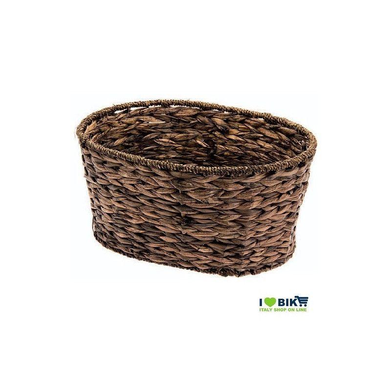 CE15O Cesto ovale in Hyacinth Naturale accessori e ricambi bici negozio bici on line