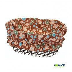 Cover Basket brown flowers