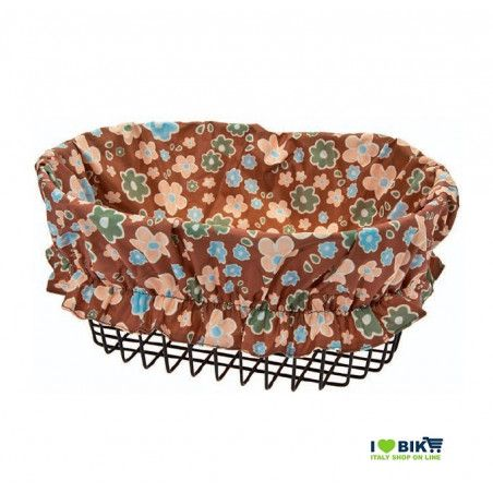 Cover Basket brown flowers