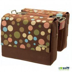 Bag rear brown polka dots