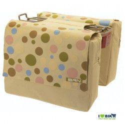 Bag rear beige polka dots