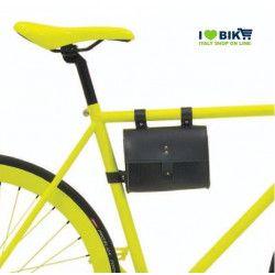 CE05 XXesempio Borsa bicicletta Fixed al telaio in similcuoioarancione accessori e ricambi bici negozio bici on line