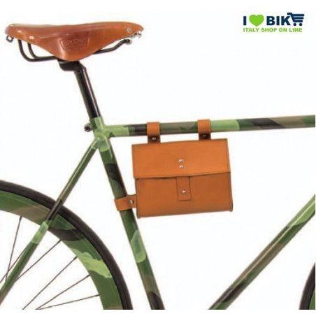 CE05O Borsa bicicletta Fixed al telaio in similcuoioarancione accessori e ricambi bici negozio bici on line