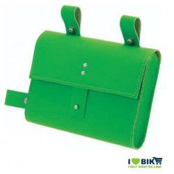 CE05V Borsa bicicletta Fixed al telaio in similcuoio verde accessori e ricambi bici negozio bici on line