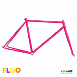TE01FF53 telaio bici fixed fluorescente rosa fuxia fluo per bicicletta accessori e ricambi on line i love bike shop
