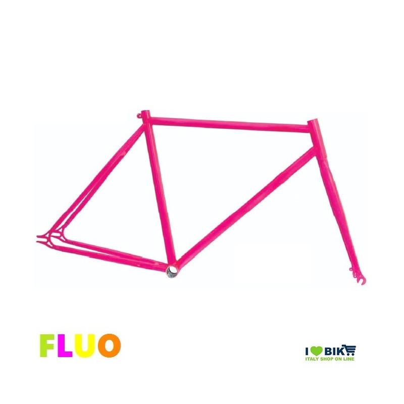TE01FF53 telaio bici fixed fluorescente rosa fuxia fluo per bicicletta accessori e ricambi on line i love bike shop