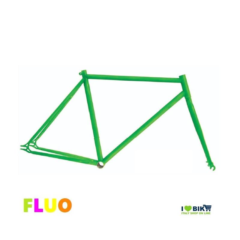TE01FV53 telaio bici fixed fluorescente verde fluo per bicicletta accessori e ricambi on line i love bike shop