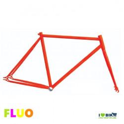 TE01FA53 telaio bici fixed fluorescente arancio fluo per bicicletta accessori e ricambi on line i love bike shop