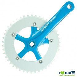 45 545 65BK guarnitura per bici single spedd azzurra blu vendita on line fixed accessori
