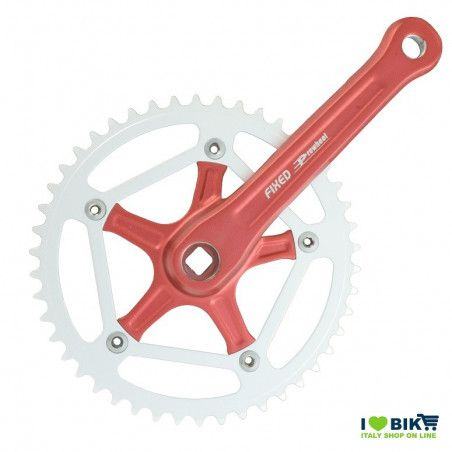 FIXED Crankset 46T X 1/8 X 170 - RED