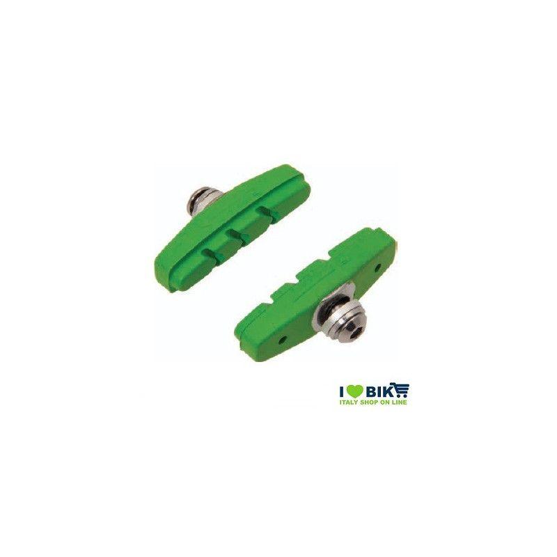 PAT60V pattini per freni bicicletta colorati verde accessori e ricambi on line bici fixed colorati su ilovebike