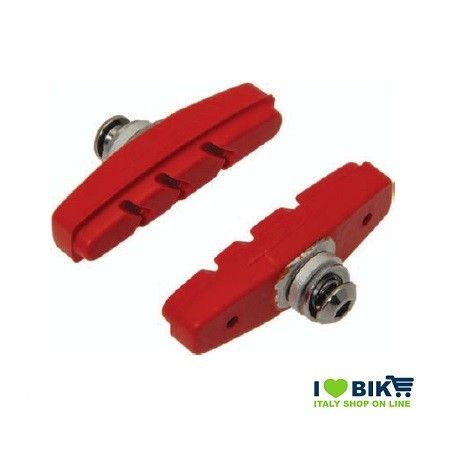 Fixed brake pads red