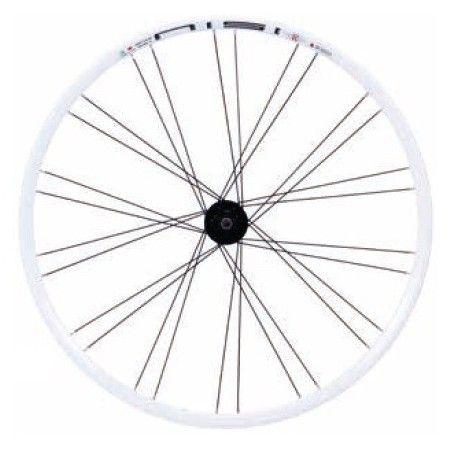 Pair wheel 28-City Bike Black V-24 front + rear cassette White