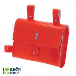 BO05FA fixed bike borsa arancio fluo al telaio per bici corsa scatto fisso vendita ol line shop accessori
