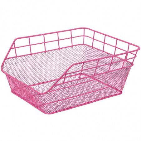 Rear Basket in retina pink Trendy