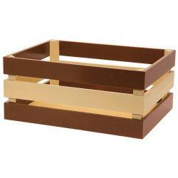 CE72MN cesto in legno anteriore marrone naturale