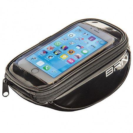 BO86NBorsetta BRN FIXED portaoggetti e porta smartphone nera
