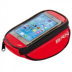 BO86R Borsetta BRN FIXED portaoggetti e porta smartphone rossa