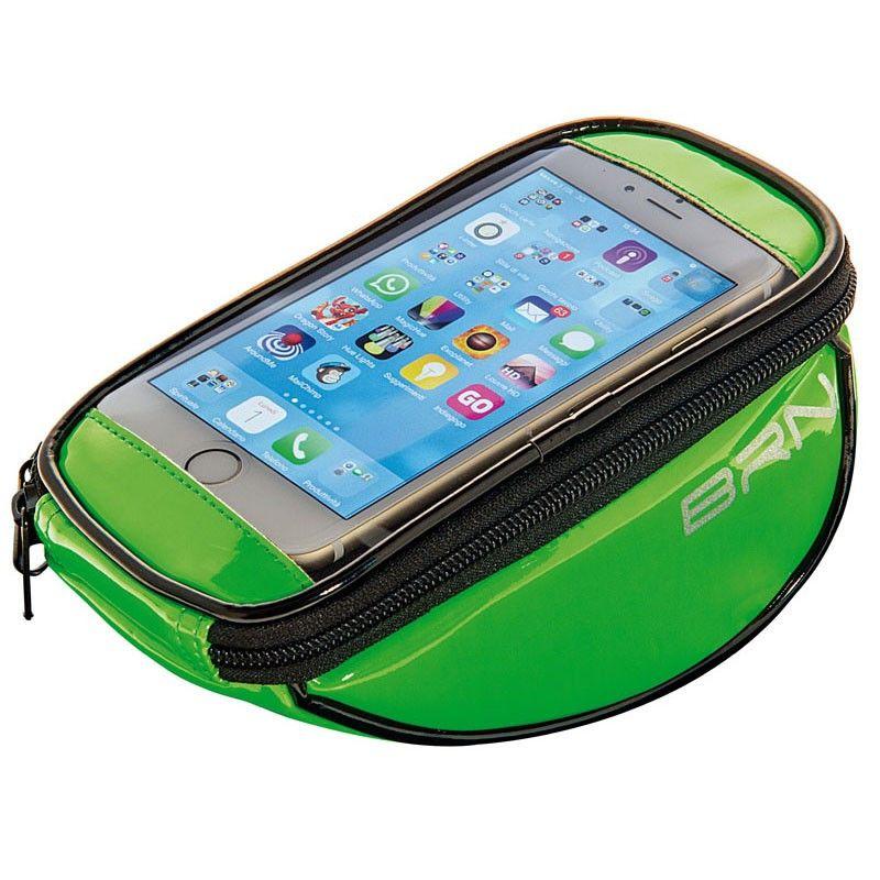 BO86V Borsetta BRN FIXED portaoggetti e porta smartphone verde