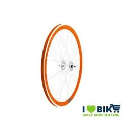 40706ASSK Ruote Fixed raggi 9x4 su cuscinetti, profilo 40mm, colore arancio