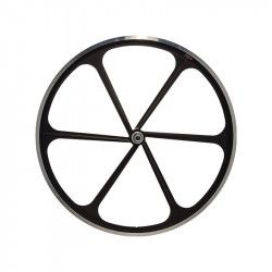 Fixed front wheel 6-spoke aluminum black