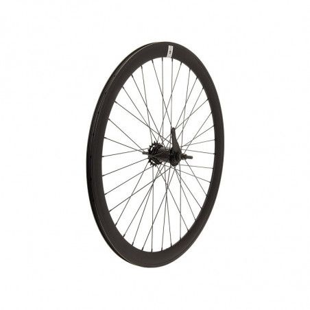 Rear wheel black aluminum hub contropedale (circle 43 mm, pinion incl.)