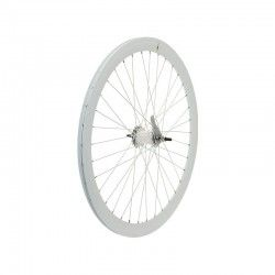 Rear wheel white aluminum hub contropedale (circle 43 mm, pinion incl.) [CLONE]